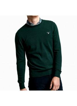 Girocollo Gant uomo 086211 superfine lambswool tartar green