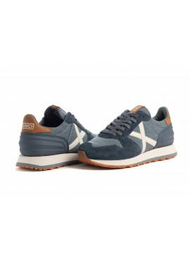Sneaker Munich uomo Massana 416 blu Pe
