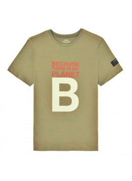 T-Shirt uomo ecoalf nataalf kaki planet b