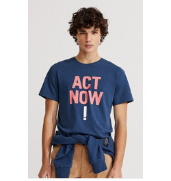 T-Shirt uomo ecoalf baumalf navy act now