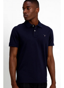 Polo Gant uomo 002201 pique ss rugger blue evening