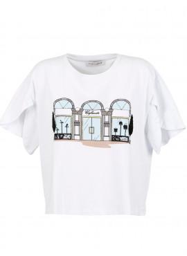 T-Shirt Cafè Noir donna Boutique bianca
