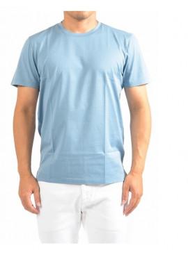 T-shirt Gran Sasso Uomo 60136 73725 celeste filo scozia Pe21