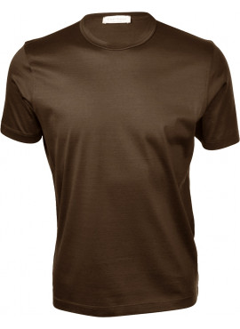 T-Shirt Gran Sasso uomo 60133 74001 marroncino filo scozia estiva