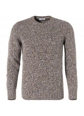Pullover Gran Sasso uomo 25701 10158 in lana brown AI19