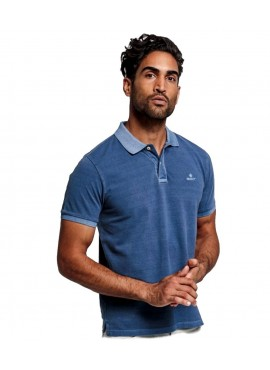 Polo Gant uomo 2052028 rugger in piquè persian blu sunfaded Pe20